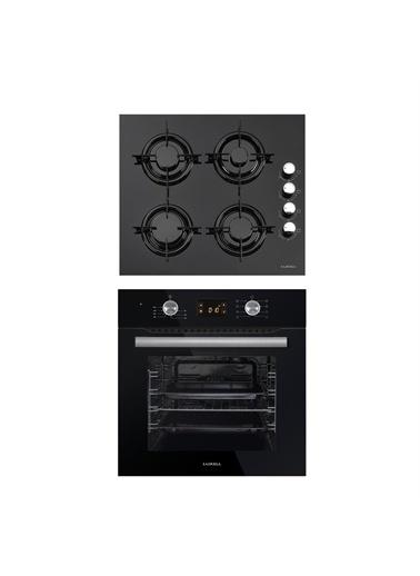 Luxell Luxell İkili Siyah Ankastre Set (Siyah Cam Ankastre Ocak 40TAHDF- Siyah Ankastre Fırın B66-SF3) Siyah